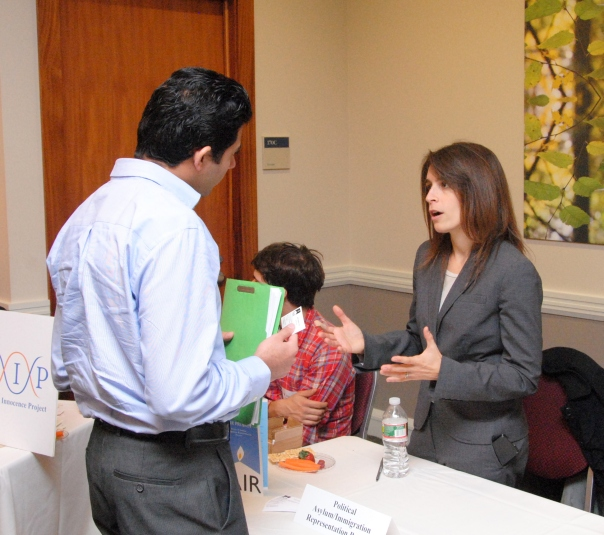At the 4th Annual Pro Bono Fair for Attorneys and Law Students sponsored by BBA and the Rappaport Center for Law and Public Service, Sarah Sherman-Stokes of the Political Asylum/Immigration Representation Project, a Boston Bar Foundation Grantee, explains the pro bono opportunities available in Greater Boston.
