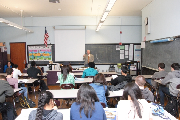 Ed Kearn's 11th and 12th grade Economics Class at Boston Latin learn about the true costs of buying a car.