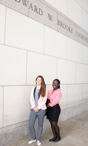 BBA Co-op students Alixandra Powers and Gaciru Matathia visited the Boston Housing Court last Thursday.