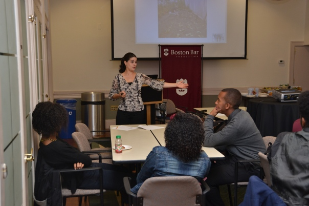 Jillian Vorce spoke with the Summer Jobs students about professional networking this morning.