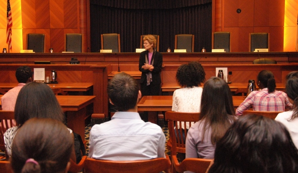 The Summer Jobs students met with Associate Justice of the Supreme Judicial Court Margot Botsford to hear about her career and the legal system in Massachusetts.