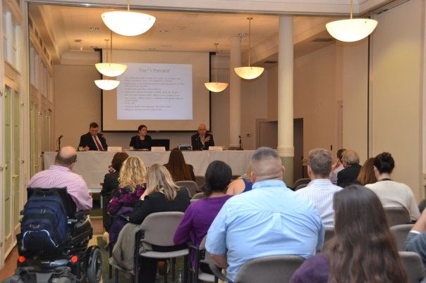 Attorneys attended the first CLE in a the Representing Military Personnel and Veterans Series on Thursday to learn about family law issues affecting our servicemembers.