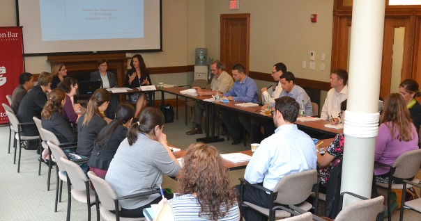 Attorneys learned how to seal CORIs at last night's pro bono training at the BBA.
