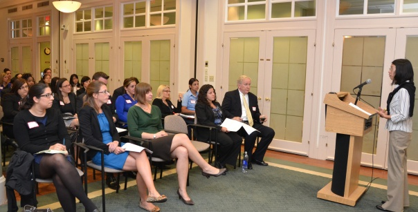 Interested attorneys attended an information session on the Group Mentoring Program at the BBA last night.