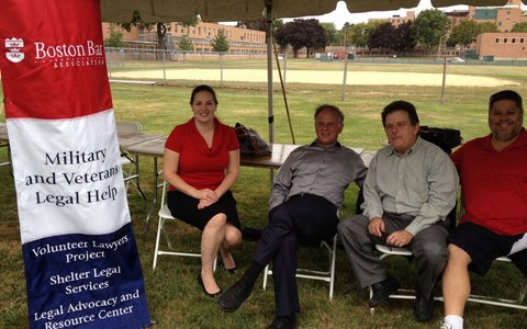 Volunteer attorneys provided legal assistance to veterans at the Boston Veteran's Expo on Saturday.