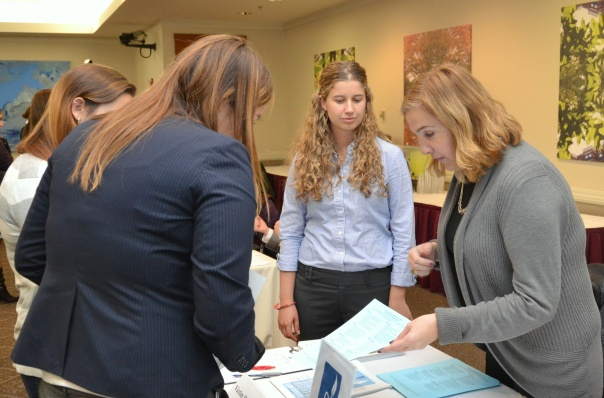 Interested volunteers picked up handouts at the table of the Victim Rights Law Center, a BBF grantee.