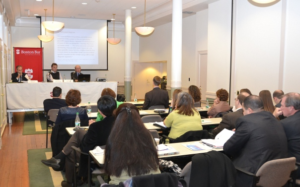 The BBA and MassCOSH hosted a program on occupation disease claims on Monday night.
