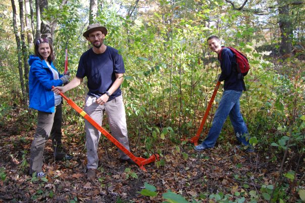 Volunteers helped clean up trash and remove invasive species.