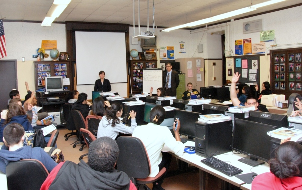 Through the M. Ellen Carpenter Financial Literacy Program, volunteer attorneys teach students how to make smart financial decisions during three-classroom based sessions and a trip to the U.S. Bankruptcy Court.