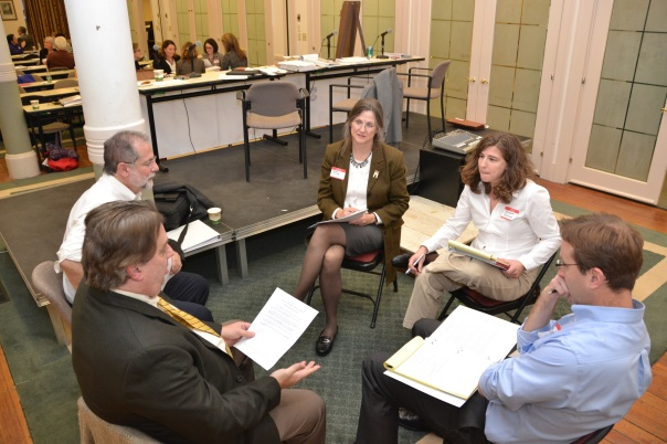 Conciliation training participants tested out their new skills during role plays.