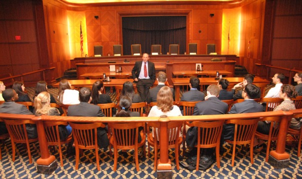 Judicial Interns visiting the Supreme Judicial Court.