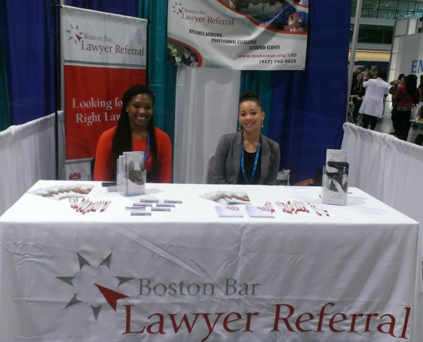 BBA Interns help staff the LRS booth at the 9th Annual MA Conference For Women.