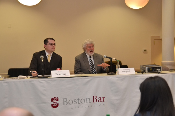 Honorable Raymond Dougan, Jr. (Boston Municipal Court), and Attorney Thomas Beauvais outlined how to use LAR in the Boston Municipal Court.