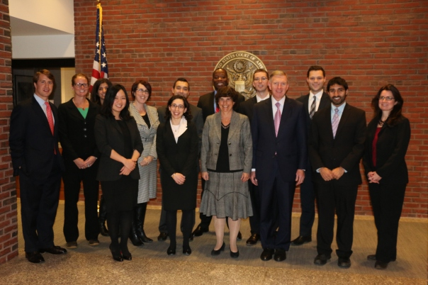 The 2012-2013 PILP Class met with Judge Patti Saris, Chief Judge for the District of Massachusetts, to discuss public service work in the legal field.