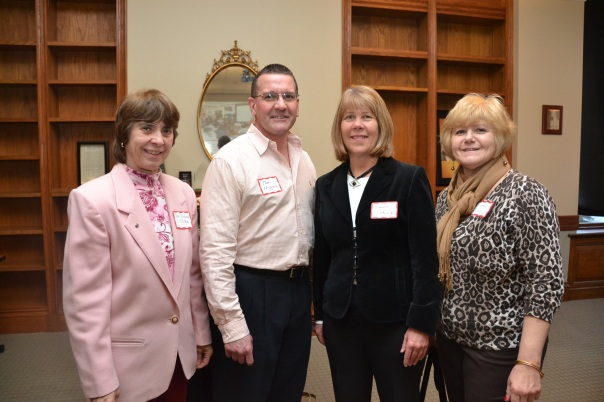 Dr. Donna Costa, Tom Higgins, Karen Sikorski, and Rosemary Slattery from Peabody High School attended the event. Tom Higgins's Law Class has participated in the program since 2007.