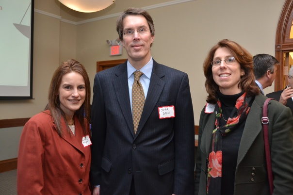 Hampden County Bar Association President-Elect Christina Turgeon (Law Office of Christina M. Turgeon) and Western Massachusetts Financial Literacy Co-Chairs John Davis (Cooley Shrair, P.C.) and Elizabeth Katz (Ostrander Law Office).