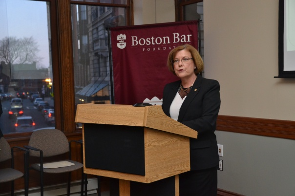 Judge Joan Feeney spoke about the history of the program and highlighted everyone who has made the program possible over the past ten years.