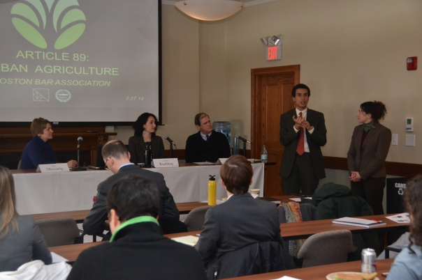 Attorneys learned about recent changes in Boston zoning code which impact urban agriculture at a recent brown bag.