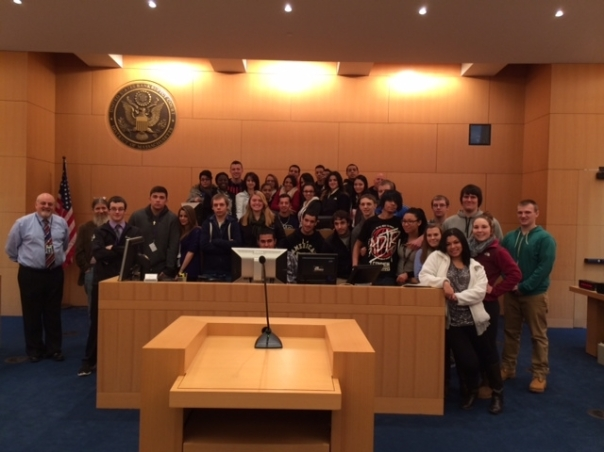 Students from Holyoke High School traveled to the Springfield Bankruptcy Court to learn about the Consequences of making poor financial decisions.