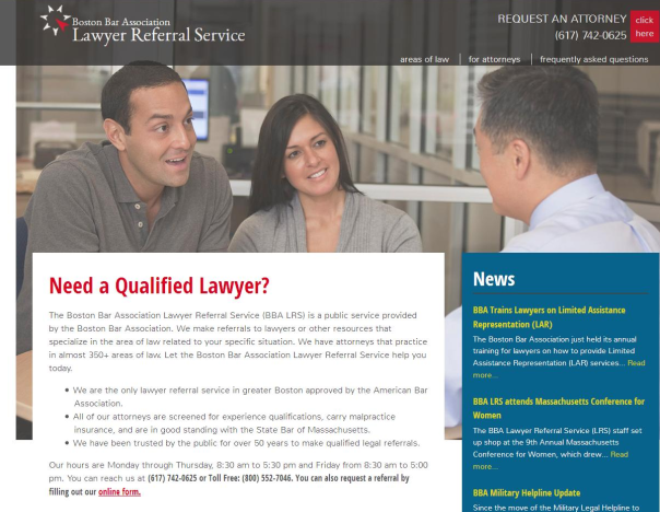 A look at the new Lawyer Referral Service Website