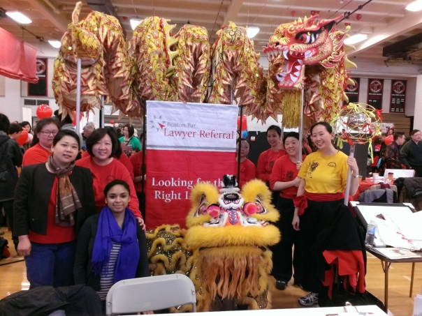 The dance troupe that performed the lion dance also paid the LRS table a visit.