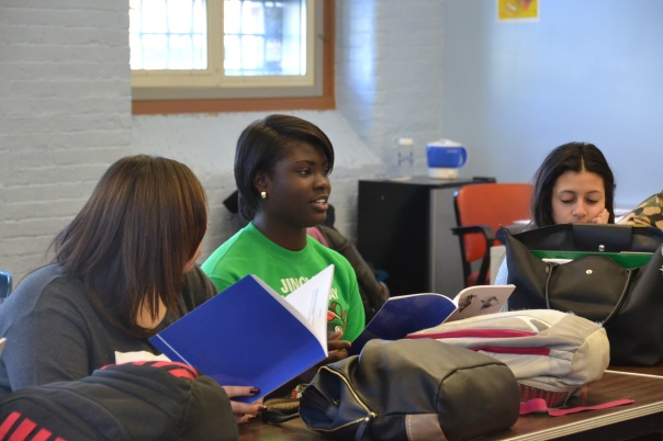 Student's from Another Course to College ask questions about how to build credit.