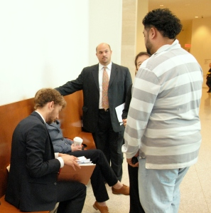 Attorneys at the Boston Housing Court assisting tenants
