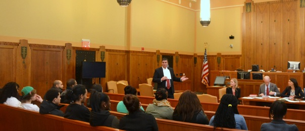 John G. Loughnane (Nutter McClennen & Fish LLP) moderated the session and led the students through a discussion of how Sally Spender could have avoided going bankrupt.