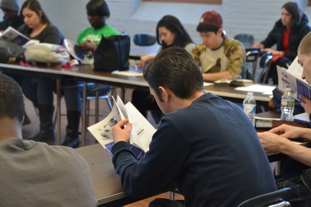 Students from Another Course to College learning about Using Credit and Credit Cards, as part of the M. Ellen Carpenter Financial Literacy Program