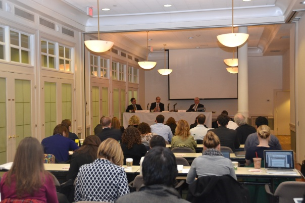 Chris Saccardi (The Law Office of Christopher T. Saccardi), Lawrence Wind (The Law Office of Lawrence A. Wind), and Judge Jeffrey Winik (Boston Housing Court) led Monday's  Housing Court training.