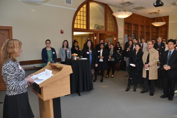 Joanna Allison (Volunteer Lawyers Project) offered closing remarks at the celebration, thanking everyone for their efforts and encouraging those to stay committed to the Program.