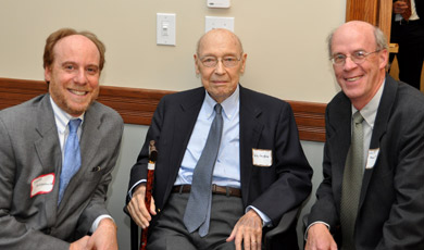 Wiley Vaughan (center) with Sandy Moskowitz of Davis Malm & D'Agostine (left) and Christopher Pitt of Robinson & Cole (right).
