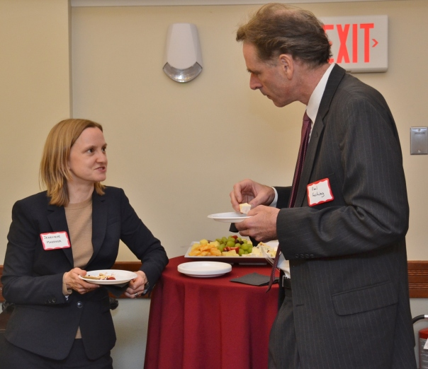 PILPER Jenevieve Maerker (Foley Hoag, LLP) with BBA Council Member Paul Cushing (Partners HealthCare)