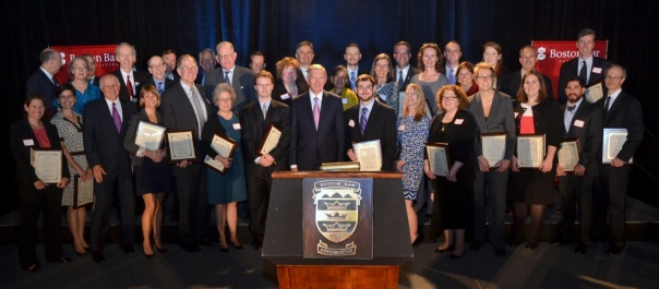 BBA President Paul T. Dacier presented a special award to over 60 volunteer attorneys who provided critical assistance to victims and small business affected by the Boston Marathon bombings.
