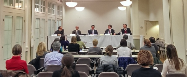 Nonprofit employers gathered at 16 Beacon to learn about the new Employment Law Pro Bono Project, a partnership between Lawyers Clearinghouse and the BBA's Labor & Employment section.