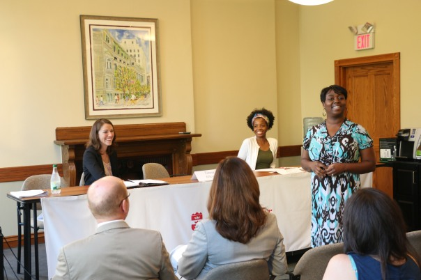 Boston Private Industry Council Career Specialists Teresa Alleyne and Rose Delorme spoke with employers about working with Boston public high school students and provided tips for helping students to excel in their first professional job.