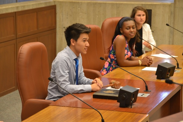 Thomas Vu, who is interning at Nixon Peabody LLP this summer, served as City Council President.
