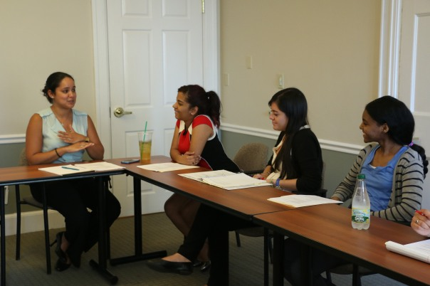 Mirna Diaz  (Diaz Law Group) spoke with the Summer Jobs interns and LRS intern about family law as part of the LRS training series.