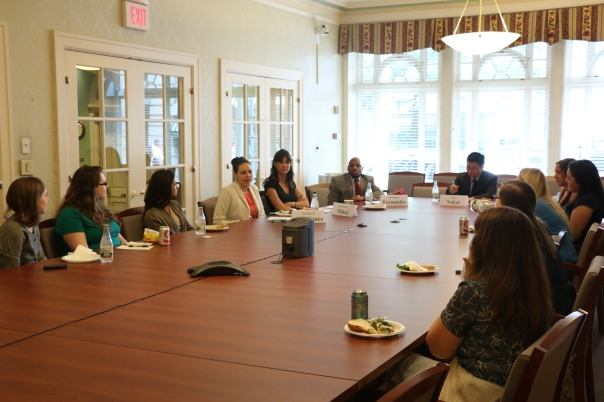 Law students and new attorneys learned about legal service careers at last week's Career Series Lunch.