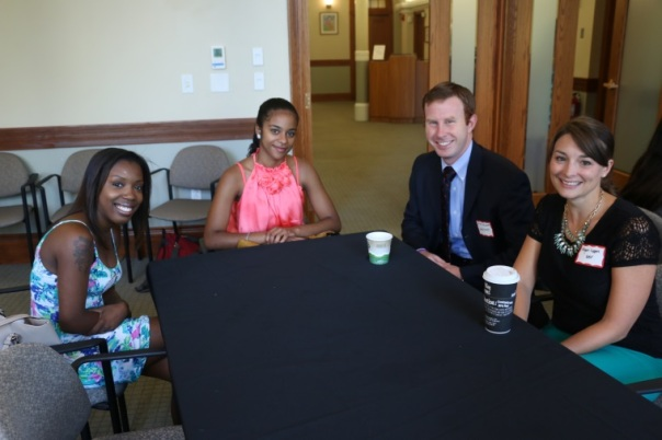 Cesaltina Barros, who is interning at the Committee for Public Counsel Services in Roxbury, told Michael McDermott (Dain, Torpy, Le Ray, Wiest & Garner, P.C.), who's firm sponsored a student this summer, BBF Director of Marketing & Development Megan Leppert and her supervisor, Keisha Taylor (Committee for Public Counsel Services), about her experience.