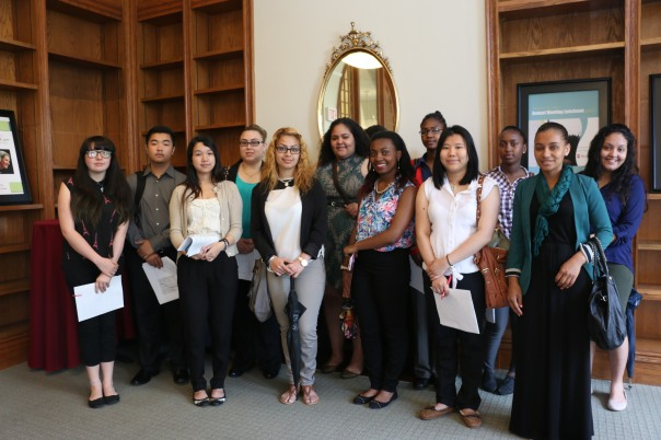 The 14 Summer Jobs Students who are working in positions sponsored by the BBF at our Summer Jobs Orientation in June