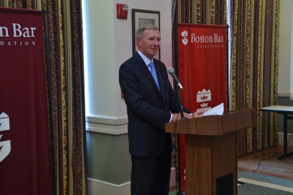 BBA President Paul Dacier, congratulated the students on their accomplishments this summer and then jokingly quizzed the students on their knowledge of the U.S. Constitution.