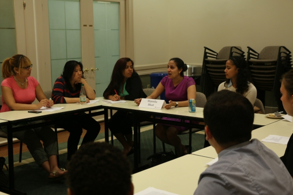 Manisha Bhatt (Greater Boston Legal Services) explained what it means to be a legal services attorney and encouraged the students to find work that they are passionate about.