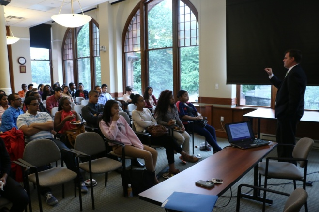 Daniel Forster, Student Financial Services at Simmons College, came to the BBA to talk to the Summer Jobs Students about the importance of understanding student loans.