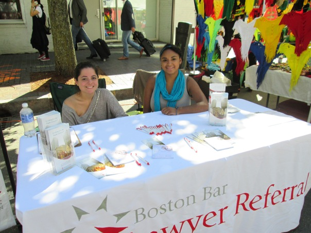 BBA staff set up shop in Kendall Square along with other non-profits and vendors.