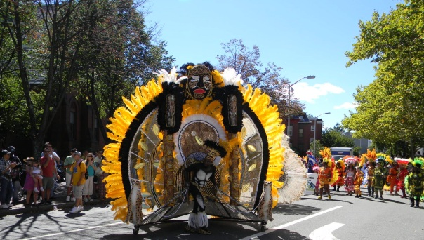 The colorful parade is a highlight of the annual Cambridge Carnival International.